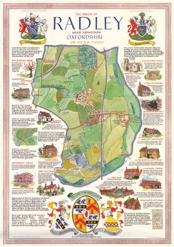 Millennium map produced as an  A2 poster for Radley History Club