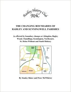 Front cover of Radley History Club's book, 'The Changing Boundaries of Radley and Sunningwell Parishes'