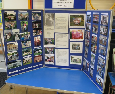 Display about the Club's history