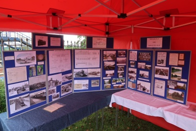Part of the display of archive material about the railway at Radley