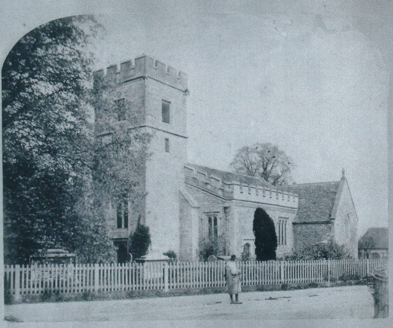 Radley Church in the 1880s