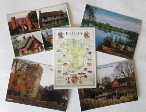 Set of five Radley postcards produced by Radley History Club