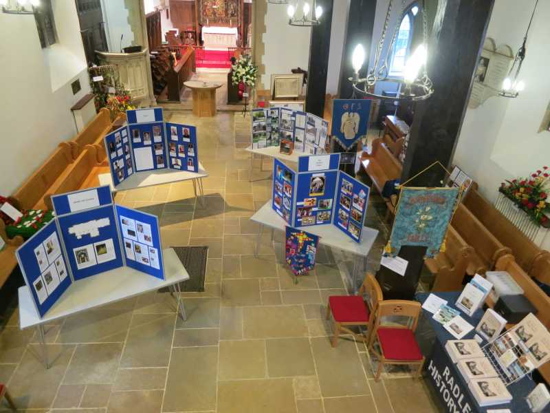 View from the balcony of the church set up for the exhibition