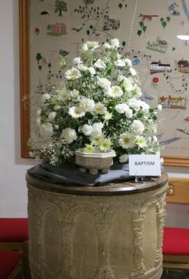 Floral arrangement - baptism