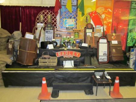Display of Radley railway memorabilia