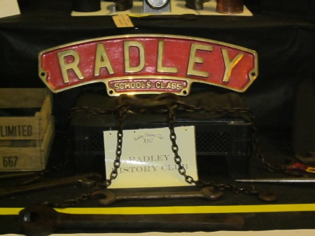 'Radley' train nameplate
