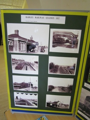 DIsplay of photographs of Radley Station in 1957