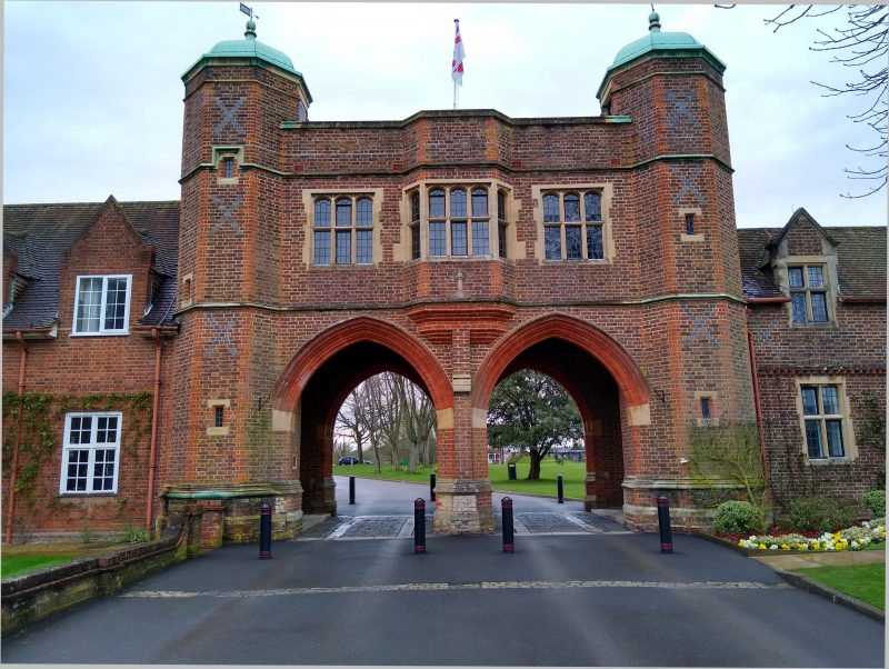 Memorial arch, Radley College, March 2020