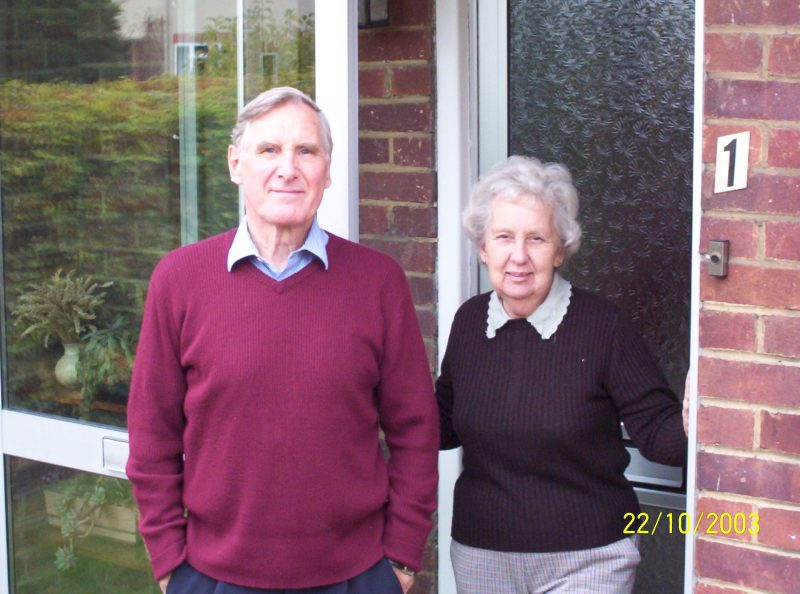 David Buckle and his wife Beryl pictured in July 2003