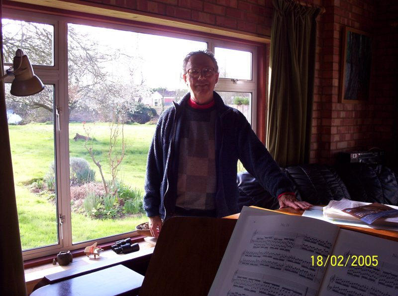 David Shaw pictured at his house in Lower Radley in February 2005