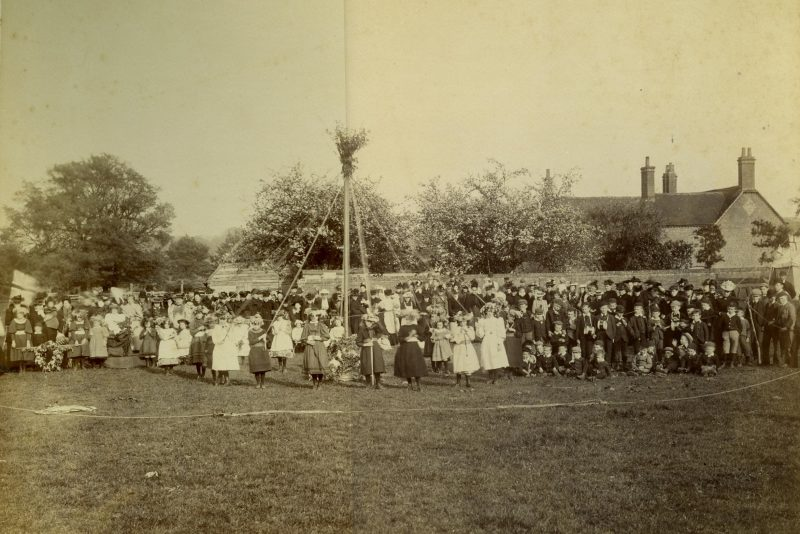 May Day celebrations at Radley, 1894