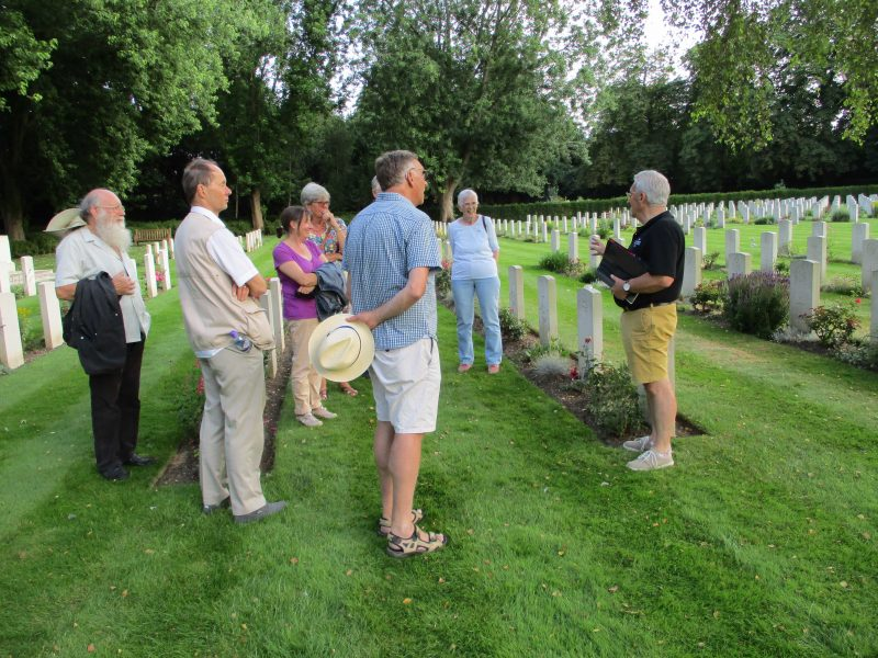 Group of Radley History Club members at the Botley War Graves Cemetery in Oxford