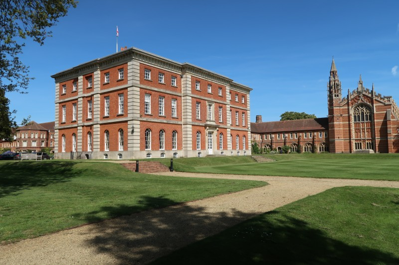 The Mansion, with the Chapel in the background, Radley College, May 2019