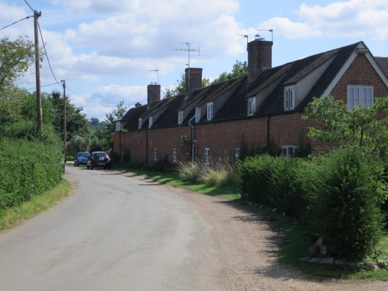 Row of cottages formerly known as Rose Cottage Terrace in Lower Radley, August 2021