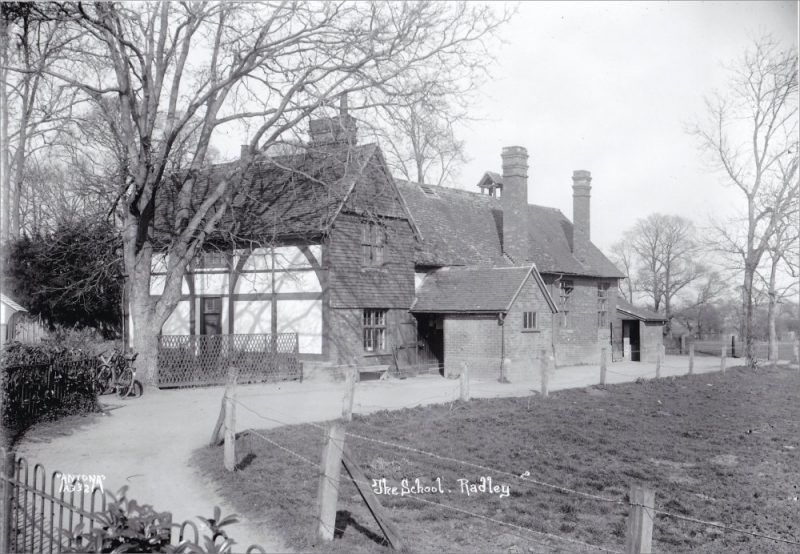 School house, adjoining Victorian building at Radley Primary School, probably taken in the 1930s