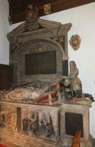 Stonhouese monument in Radley Church
