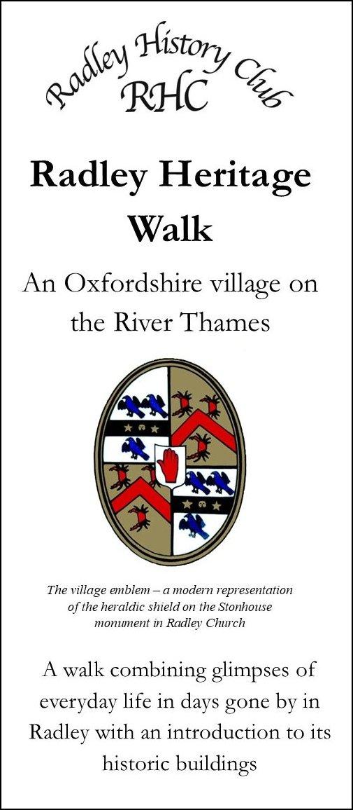 Front cover of Radley Heritage Walk leaflet